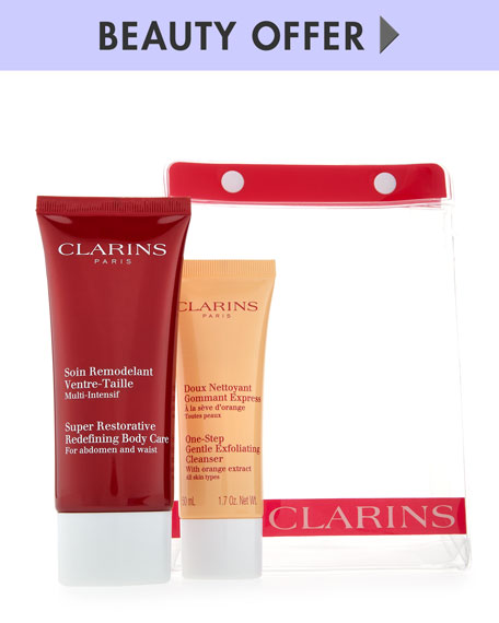 Yours with any $85 Clarins purchase