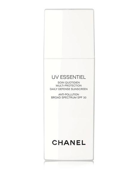 CHANEL <B>UV ESSENTIEL</b><BR> Multi-Protection Daily Defense Sunscreen Anti-Pollution Broad Spectrum SPF 30, 1.0 oz.