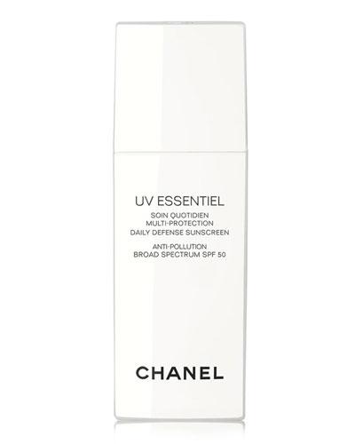 <B>UV ESSENTIEL</b><BR>Multi-Protection Daily Defense Sunscreen Anti-Pollution Broad Spectrum SPF 50, 1.0 oz.
