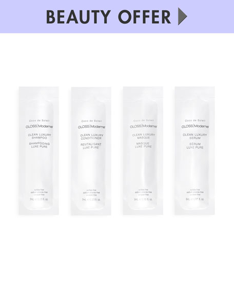Receive a free 4-piece bonus gift with your $45 GLOSS Moderne purchase