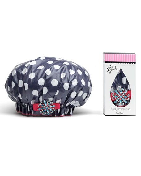 Dry Divas Shower Cap with Vintage Brooch, Lotza
