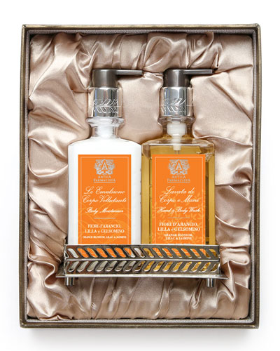 Orange Blossom Hand Wash & Moisturizer Gift Set with Tray