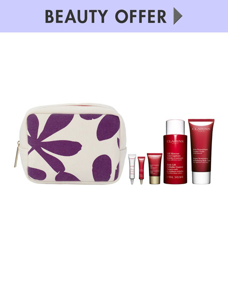 Receive a free 6-piece bonus gift with your $85 Clarins purchase