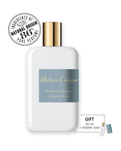 Atelier Cologne Encense Jinhae Cologne Absolue, 200 mL with Personalized Travel Spray, 1.0 oz./ 30 mL