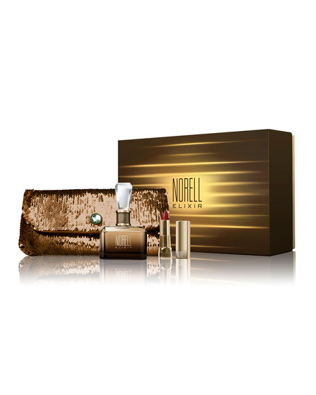Elixir Perfume, Clutch & Lipstick Boxed Gift Set, 3.4 oz./ 100 mL