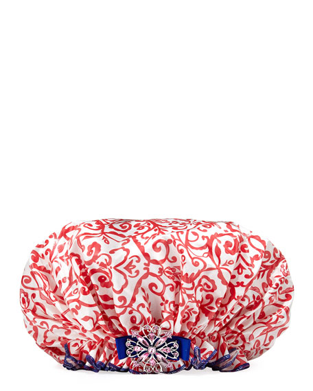 Holly Jolly Bouffant Diva Shower Cap