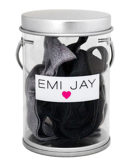 Black Ombre Hair Ties in Paint Tin