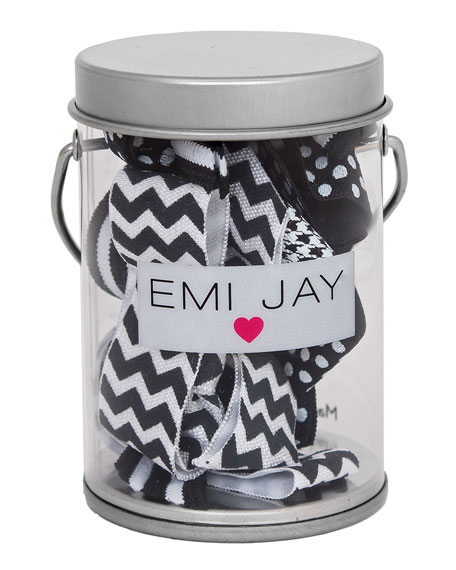 Emi Jay Black Tie Hair Ties in Paint