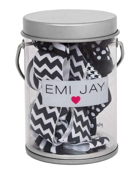Emi Jay Black Ombre Hair Ties in Paint