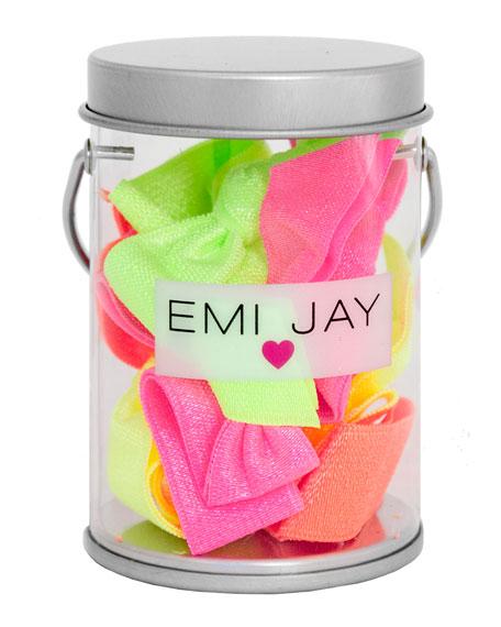 Emi Jay Neon Hair Ties in Paint Tin
