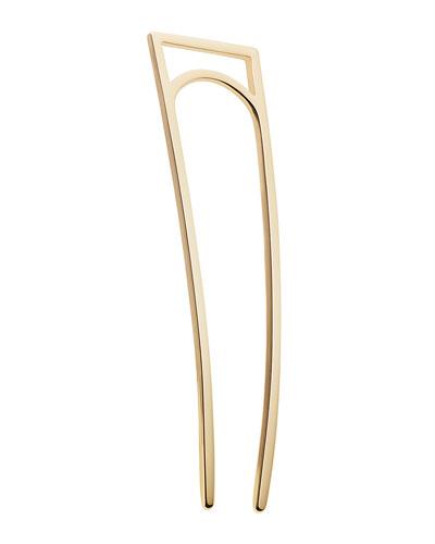 Geometric Gold Plated Metal Hair Stick