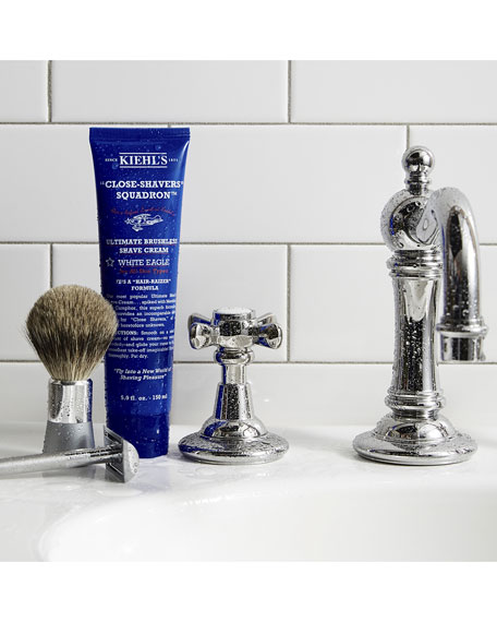 "Kiehl's Since 1851 ""Close-Shavers"" Squadron Ultimate Brushless Shave Cream, White Eagle, 5.0 oz."