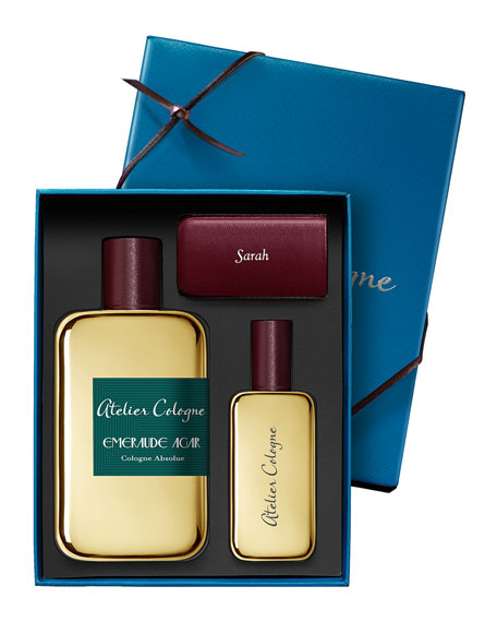 Emeraude Agar Cologne Absolue, 200 mL with Personalize Travel Spray, 30 mL