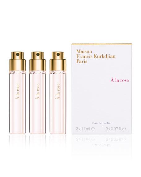 À la rose Eau de Parfum Spray Refill, 3 x 0.37 oz./ 11 mL