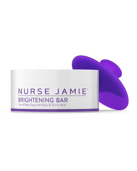 The Brightening Bar & Exfolibrush™ Silicone Facial Brush