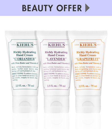 Receive a free 3-piece bonus gift with your $150 Kiehl's purchase