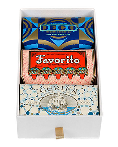 Claus Porto DECO, FAVORITO & CERINA GIFT BOX SET