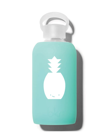 Glass Water Bottle, Holiday Pineapple, 500 mL