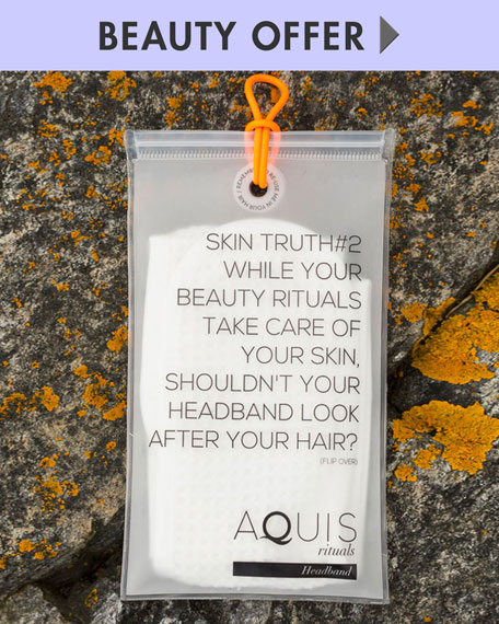 Yours with any $30 Aquis purchase—Online only*