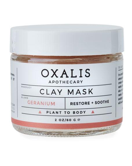 Oxalis Apothecary Geranium Clay Mask, 2.0 oz.
