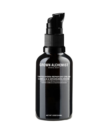 Grown Alchemist TINTED HYDRA-REPAIR DAY CREAM - CAMELLIA & GERANIUM BLOSSOM, 1.5 OZ./ 45 ML