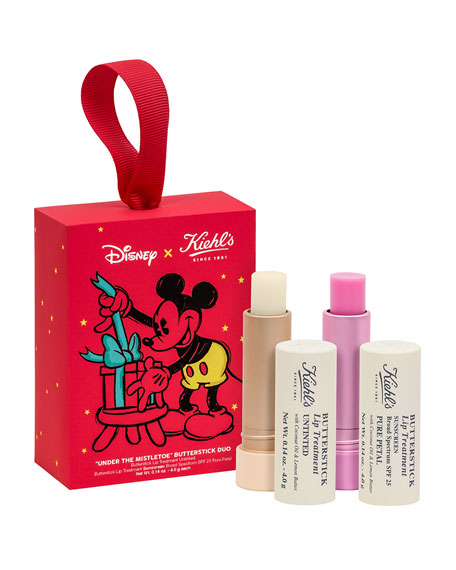 Special Edition Neiman Marcus Exclusive: Disney X Kiehl's Mistletoes Moments Butterstick Lip Treatment Duo ($39.00 Value)