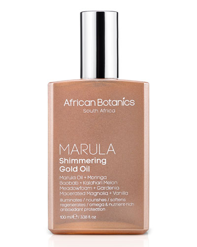 Marula Shimmering Gold Oil  3.4 oz./ 100 mL