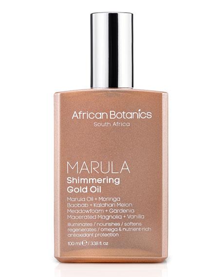 African Botanics 3.4 OZ. MARULA SHIMMERING GOLD OIL