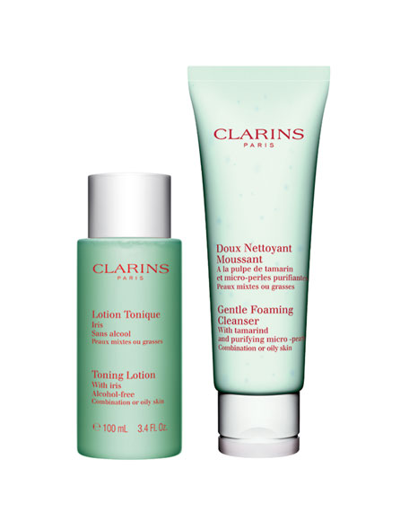 Clarins Cleansing Essentials - Oily or Combination Skin ($39 Value)