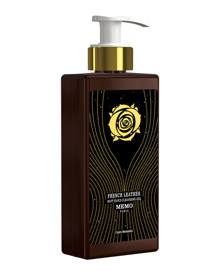 Memo Paris French Leather Hand Cleansing Gel, 8.5 oz./ 250 mL