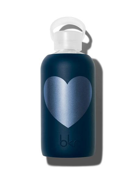 Glass Water Bottle, Fifth Ave Heart, 16 oz./ 500 mL