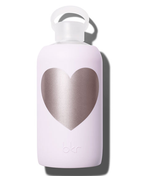 Glass Water Bottle, Lala Heart, 34 oz./ 1 L
