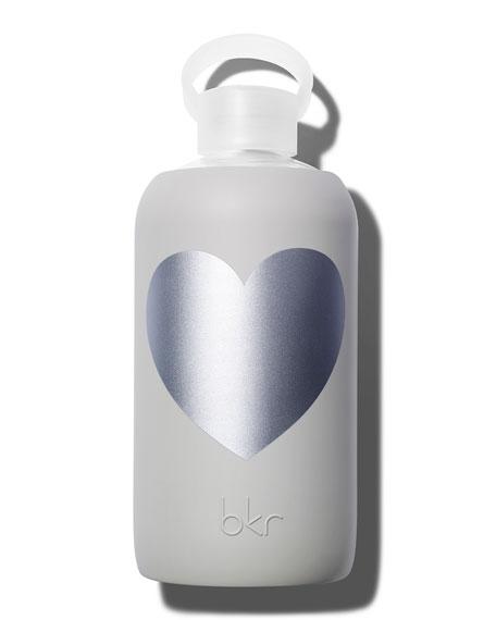 Glass Water Bottle, Luna Heart, 34 oz./ 1L