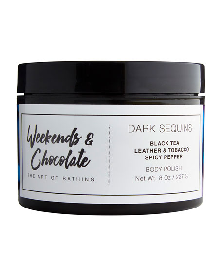 Image 1 of 1: Body Scrub - Dark Sequins, 8.0 oz./ 227 mL