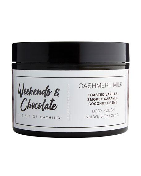 Weekends and Chocolate Body Scrub - Cashmere Milk, 8.0 oz./ 227 mL
