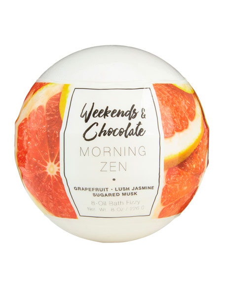 Weekends and Chocolate Large Bath Fizzy - Morning Zen, 8 oz / 226 g
