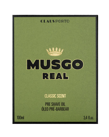 Musgo Real Classic Scent Pre-Shave Oil, 3.4 oz./ 100 mL