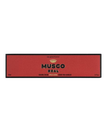 Musgo Real Spiced Citrus Shaving Cream, 3.4 oz./ 100 mL