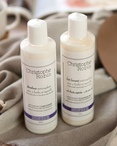 Christophe Robin Antioxidant Cleansing Milk with 4 Oils and Blueberry, 8.4 oz./ 250 mL