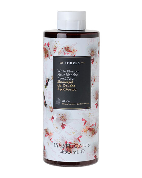 Korres White Blossom Shower Gel, 14 oz./ 400 mL