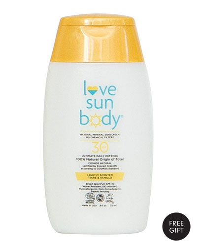 Yours with any $32 Love Body Sun Purchase