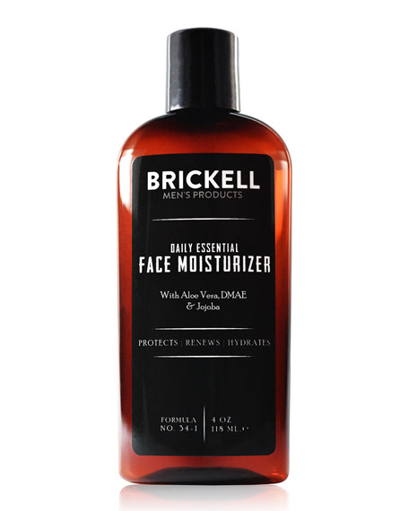 Brickell Men's Products Daily Essential Face Moisturizer, 4 oz./ 118 mL