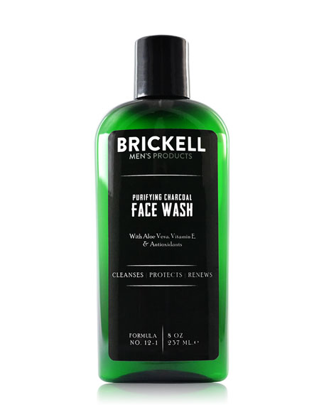 Brickell Men's Products Purifying Charcoal Face Wash, 8 oz./ 237 mL