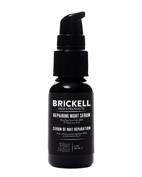 Brickell Men's Products Repairing Night Serum, 1 oz./ 29 mL