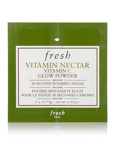 Vitamin Nectar Vitamin C Glow Powder 30-Second Foaming Facial  12 Packets