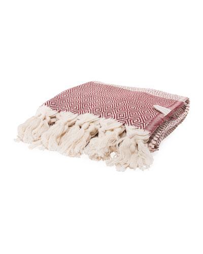 Medi Havlu Bordeaux Turkish Towel