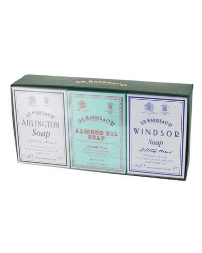 Soap Trio - Arlington  Almond Oil  and Windsor