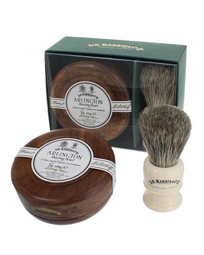Arlington Mahogany Gift Set (Bowl + Brush)