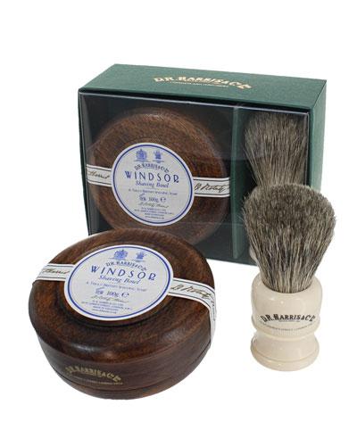 Windsor Mahogany Gift Set (Bowl + Brush)