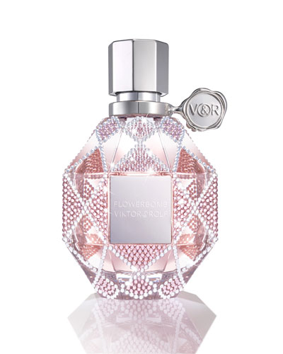 NM Exclusive Flowerbomb Swarovski® Holiday Limited Edition Refillable Bottle, 3.4 oz./ 100 mL